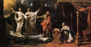 Reproduction oil paintings - Philippe de Champaigne - Sts Gervase abd Protase Appearing to St Ambrose