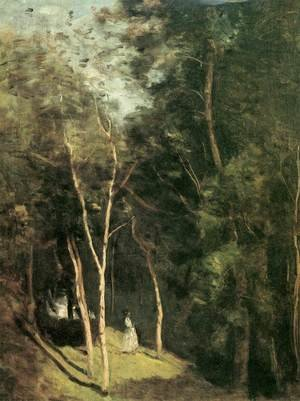 Reproduction oil paintings - Jean-Baptiste-Camille Corot - In a Park