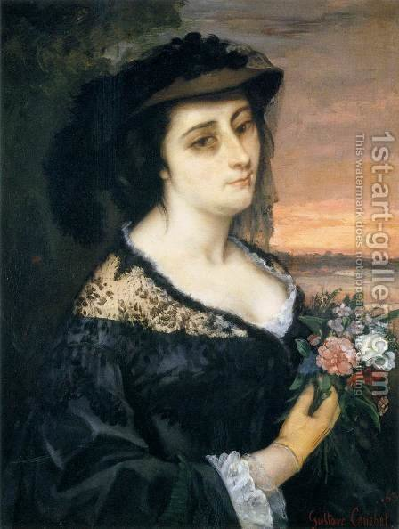 Portrait of Laure Borreau by Gustave Courbet - Reproduction Oil Painting