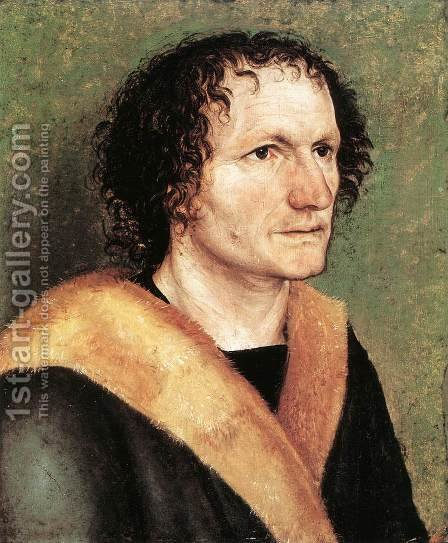Portrait of a Man 2 by Albrecht Durer - Reproduction Oil Painting