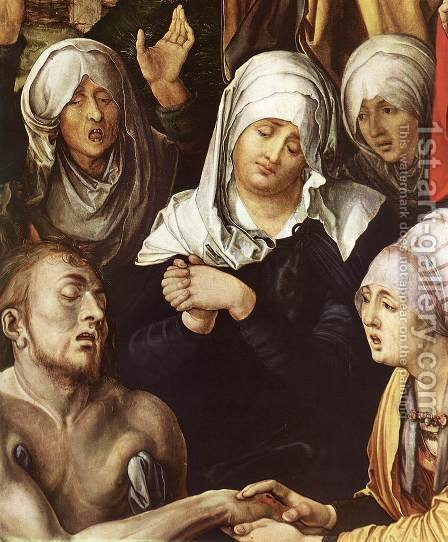 Lamentation for Christ (detail) by Albrecht Durer - Reproduction Oil Painting