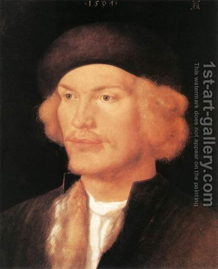 Portrait of a Young Man 5 by Albrecht Durer - Reproduction Oil Painting