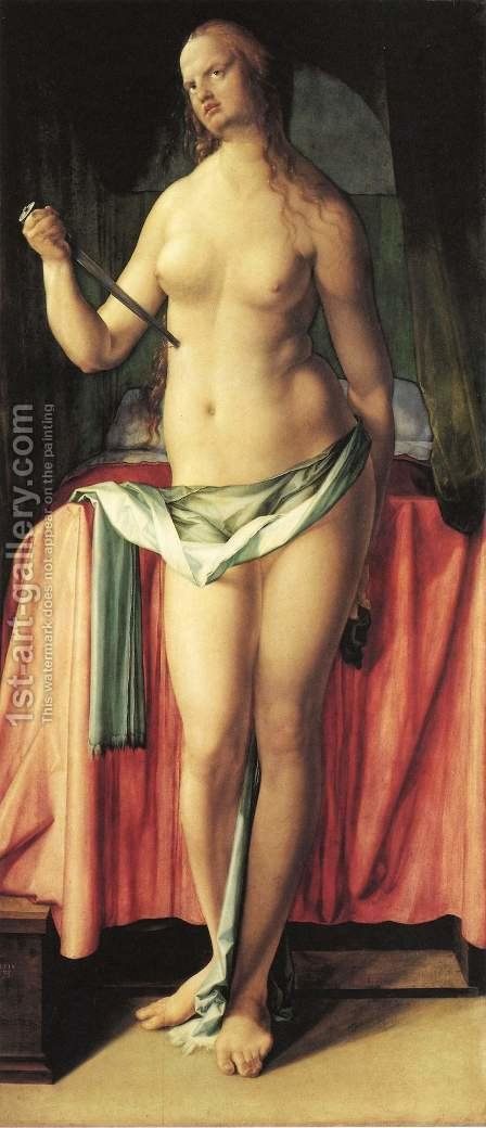 The Suicide of Lucrezia 2 by Albrecht Durer - Reproduction Oil Painting