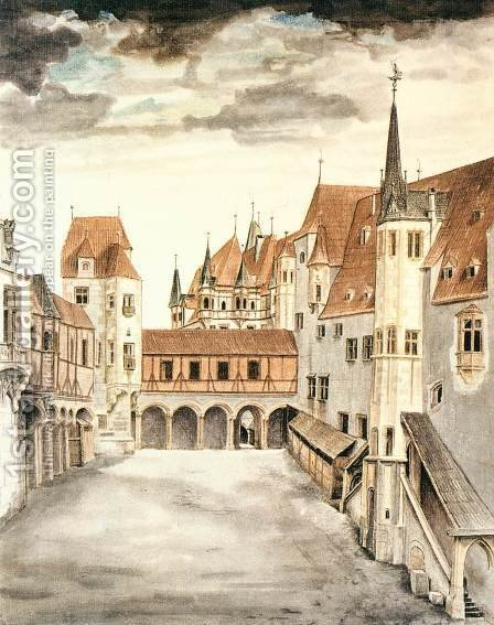 Courtyard of the Former Castle in Innsbruck with Clouds by Albrecht Durer - Reproduction Oil Painting