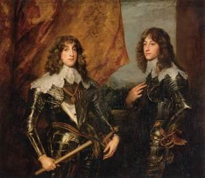 Reproduction oil paintings - Sir Anthony Van Dyck - Portrait of the Princes Palatine Charles-Louis I and his Brother Robert