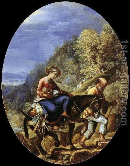 The Flight into Egypt by Adam Elsheimer - Reproduction Oil Painting