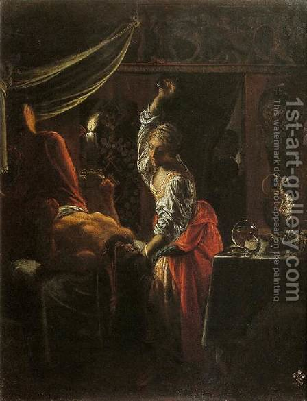 Judith Beheading Holofernes by Adam Elsheimer - Reproduction Oil Painting