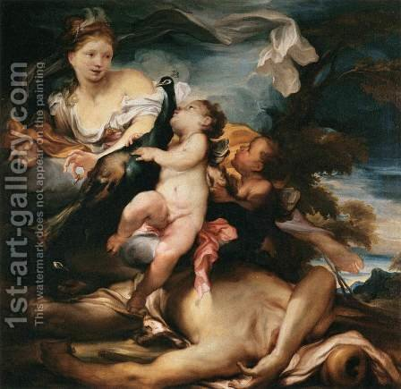 Juno and Argus by Gregorio de Ferrari - Reproduction Oil Painting