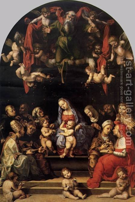 Virgin and Child with Saints by Girolamo Genga - Reproduction Oil Painting
