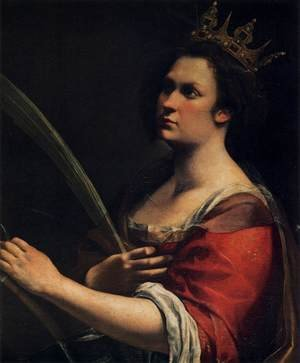Reproduction oil paintings - Artemisia Gentileschi - St Catherine of Alexandria