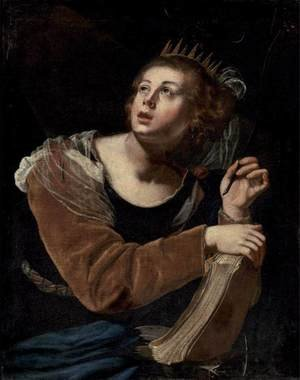 Reproduction oil paintings - Artemisia Gentileschi - St Catherine of Alexandria 2