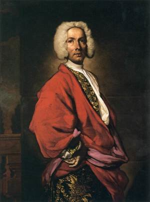 Reproduction oil paintings - Vittore Ghislandi - Portrait of Count Galeozzo Secco Suardo (1681-1733)
