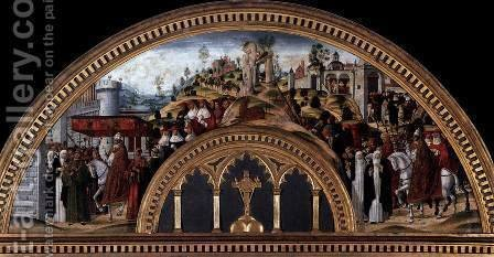Gregory XI Returns to Rome from Avignon by Girolamo Di Benvenuto - Reproduction Oil Painting