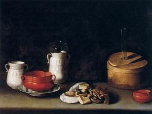 Famous paintings of Desserts: Still-Life with Crockery and Cakes