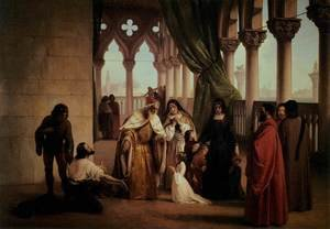 Reproduction oil paintings - Francesco Paolo Hayez - The Two Foscari