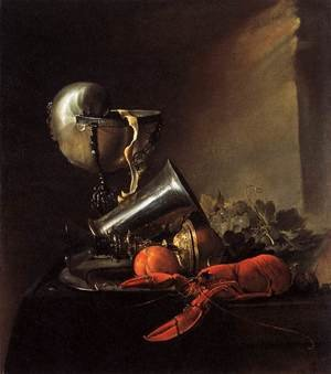 Reproduction oil paintings - Jan Davidsz. De Heem - Still-Life with Lobster and Nautilus Cup