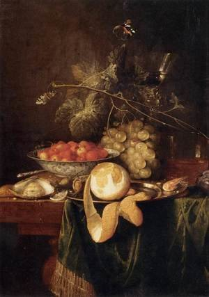 Reproduction oil paintings - Jan Davidsz. De Heem - Still-Life with a Peeled Lemon