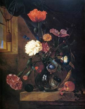 Reproduction oil paintings - Jan Davidsz. De Heem - Bouquet in a Glass Vase