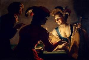 Reproduction oil paintings - Gerrit Van Honthorst - The Procuress