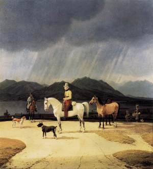 Reproduction oil paintings - Wilhelm Von Kobell - Riders at the Tegernsee