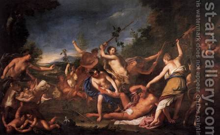 Orpheus and the Bacchantes by Gregorio Lazzarini - Reproduction Oil Painting