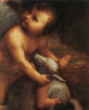 Reproduction oil paintings - Leonardo Da Vinci - The Virgin and Child with St Anne (detail) 5