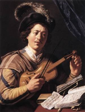 Reproduction oil paintings - Jan Lievens - The Violin Player 2