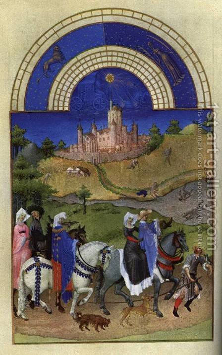 Les tres riches heures du Duc de Berry Aout (August) by Harry J. Pearson - Reproduction Oil Painting
