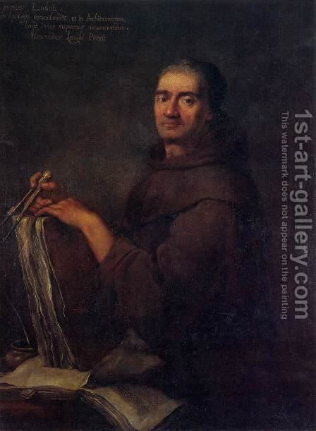 Portrait of Carlo Lodoli by Alessandro Longhi - Reproduction Oil Painting