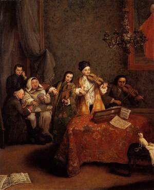 Reproduction oil paintings - Pietro Longhi - The Concert