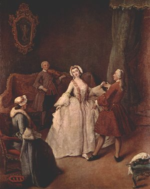 Reproduction oil paintings - Pietro Longhi - The Dancing Lesson
