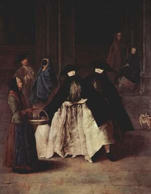 Reproduction oil paintings - Pietro Longhi - The Scent-Seller