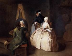 Reproduction oil paintings - Pietro Longhi - Painter in his Studio 2