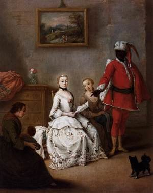 Reproduction oil paintings - Pietro Longhi - The Letter of the Moor
