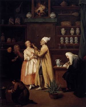 Reproduction oil paintings - Pietro Longhi - The Apothecary