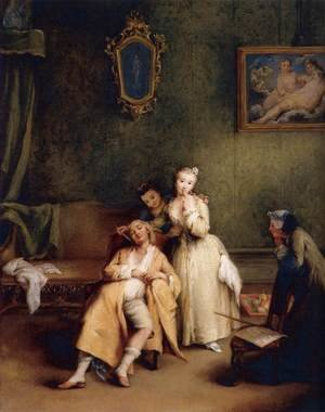 Reproduction oil paintings - Pietro Longhi - The Tickle