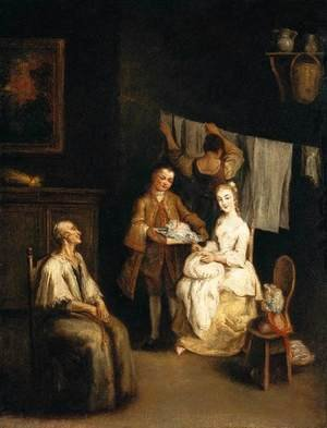 Reproduction oil paintings - Pietro Longhi - An Interior 2