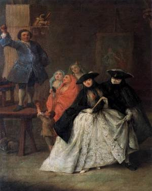 Reproduction oil paintings - Pietro Longhi - The Mountebank