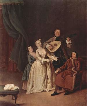 Reproduction oil paintings - Pietro Longhi - The Family Concert