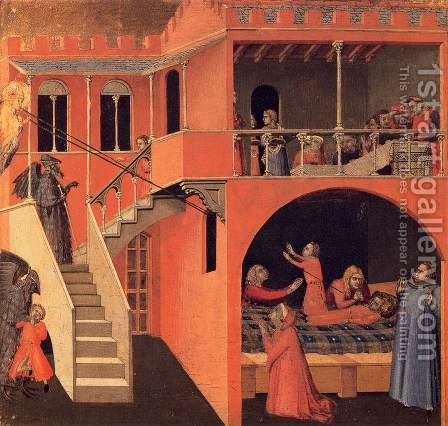 Scenes of the Life of St Nicholas by Ambrogio Lorenzetti - Reproduction Oil Painting