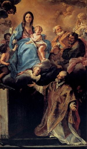 Famous paintings of Angels: The Virgin Appearing to St Philip Neri