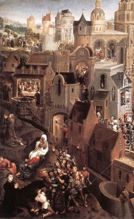 Scenes from the Passion of Christ (left side) by Hans Memling - Reproduction Oil Painting