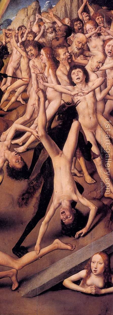 Last Judgment Triptych (detail) 3 by Hans Memling - Reproduction Oil Painting