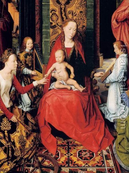St John Altarpiece (detail) by Hans Memling - Reproduction Oil Painting