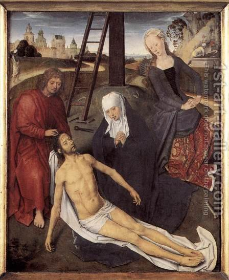 Triptych of Adriaan Reins (central panel) by Hans Memling - Reproduction Oil Painting