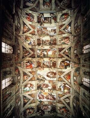 Reproduction oil paintings - Michelangelo - The ceiling