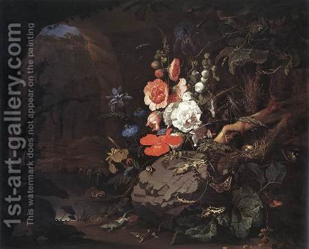 The Nature as a Symbol of Vanitas 2 by Abraham Mignon - Reproduction Oil Painting