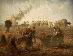 Reproduction oil paintings - Jean-Francois Millet - Buckwheat Harvest Summer