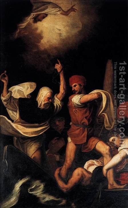 Miracle of St Dominic by (Alessandro) Padovanino (Varotari) - Reproduction Oil Painting