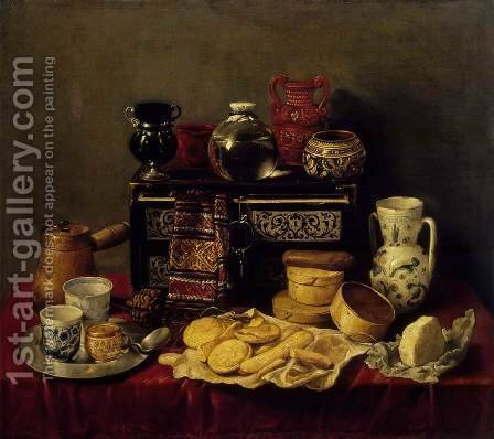 Still-Life with an Ebony Chest by Antonio de Pereda - Reproduction Oil Painting